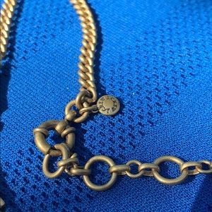 J. Crew Jewelry - J. Crew Statement Blue and Gold Necklace